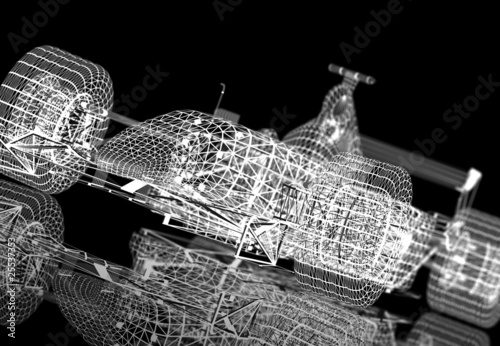 Wireframe formula one © Cla78
