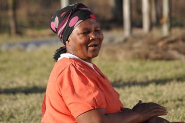 Vieille femme Africaine