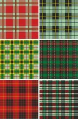 Scottish Plaid Tartan patterns