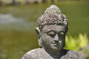 Buddha Kopf Sandsteinfigur