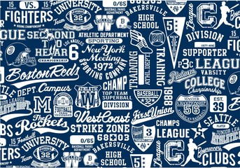 College Signs, Symbols & Graphics patchwork collage