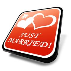 3d button, hochzeit, heirat, married
