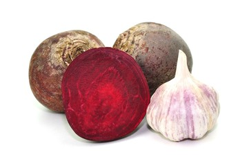 Rote Beete, Knoblauch