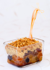 Dried fruit crumble