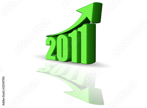 Growth of year 2011 - Success Arrow Sign