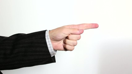 Hand sign: thumb up, down and scolding