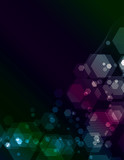 Simple transparent Polygon background poster