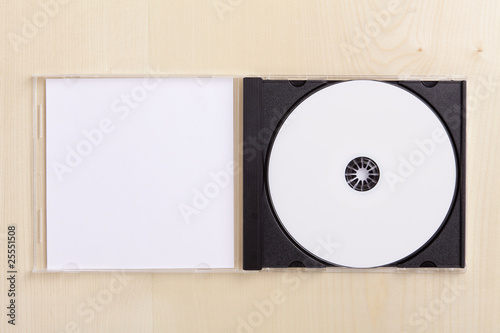 Blank CD Case on wood