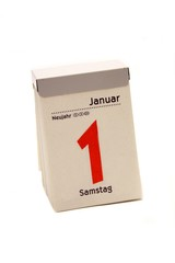 Neujahr - Kalenderblatt