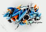 vector graffiti illustration