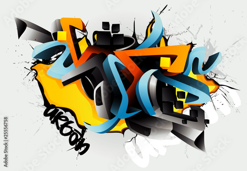 vector graffiti illustration