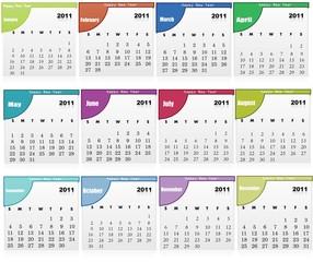 Abstract creative Calendar