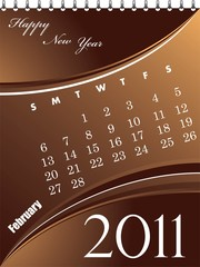 Abstract Calendar for February vector illustration