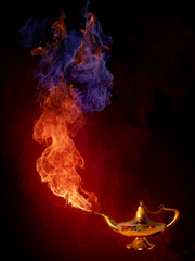 Gold magic Aladdin's Lamp