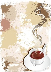 Caffè Espresso in Tazzina-Cup of Coffee Background-Vector