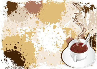 Caffè Espresso in Tazzina-Cup of Coffee Background-2-Vector