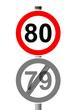 Jahreszahlen Schild 80
