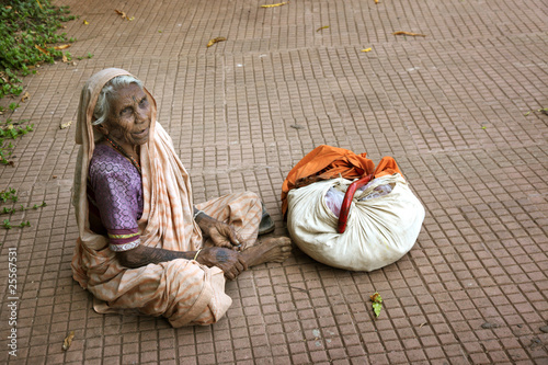 Beggar Indian woman
