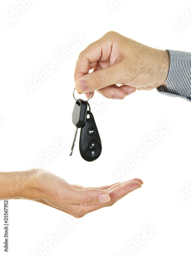 Giving car key