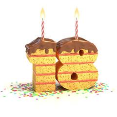 chocolate birthday cake for a eighteenth birthday