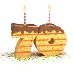 birthday cake  for a seventieth birthday or anniversary