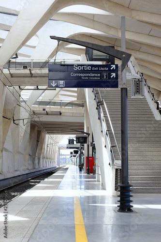 Papiers peints Gares quai de gare