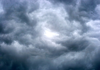 texture of dark storm clouds