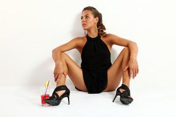 donna a gambe aperte