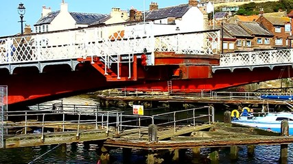 swing bridge at whitby england