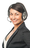 Young businesswoman in headset