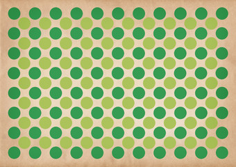 Green circles retro pattern background