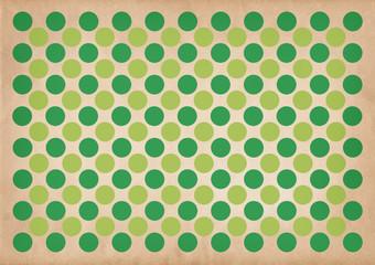 Green circles retro pattern background