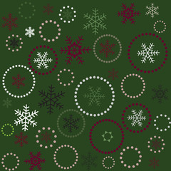 Seamless green christmas background