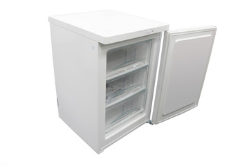 The image of open refrigerator
