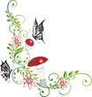 Herbst, Ranke, filigran, floral, Fliegenpilz, Märchen