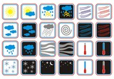 weather forecast icons day and night poster