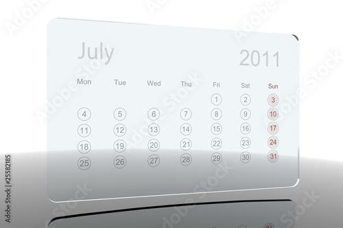 Calendar 2011 3D calendar
