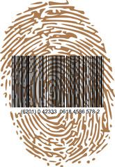 thumbprint and bar code