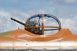machine gun turret on a vintage WW2 bomber aircraft poster