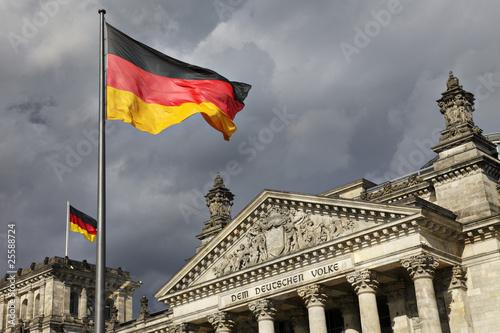 Leinwanddruck Bild Berliner Reichstag