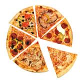 Fototapety pizza slices on white background