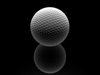 Golf ball in dark background