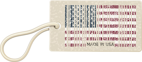 Label Barcode Made in USA