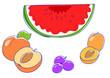Anguria pesche prugne albiccocche: frutta estiva
