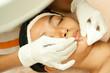 Woman Closeup Face  at Facial Treatment