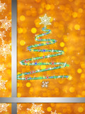 Background golden Weihnachtsbaum modern