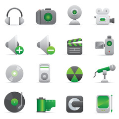 Multimedia Icons   Green 08