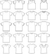 20 T-shirt outline templates for kids, women, men