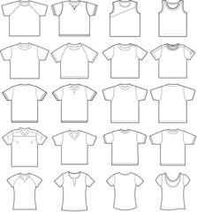 20 T-shirt outline templates for kids, women, men