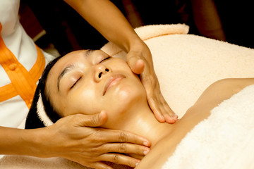 Face Massage at Facial Treatment